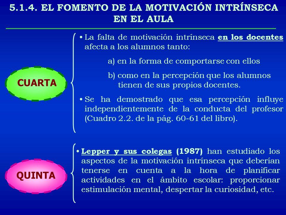 La falta de motivación intrínseca en los docentes afecta a los alumnos tanto: a) en la forma de comportarse con ellos b) como en la percepción que los