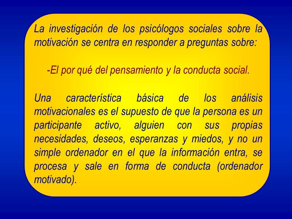 2.- El estudio de la motivación desde la Psicología Social