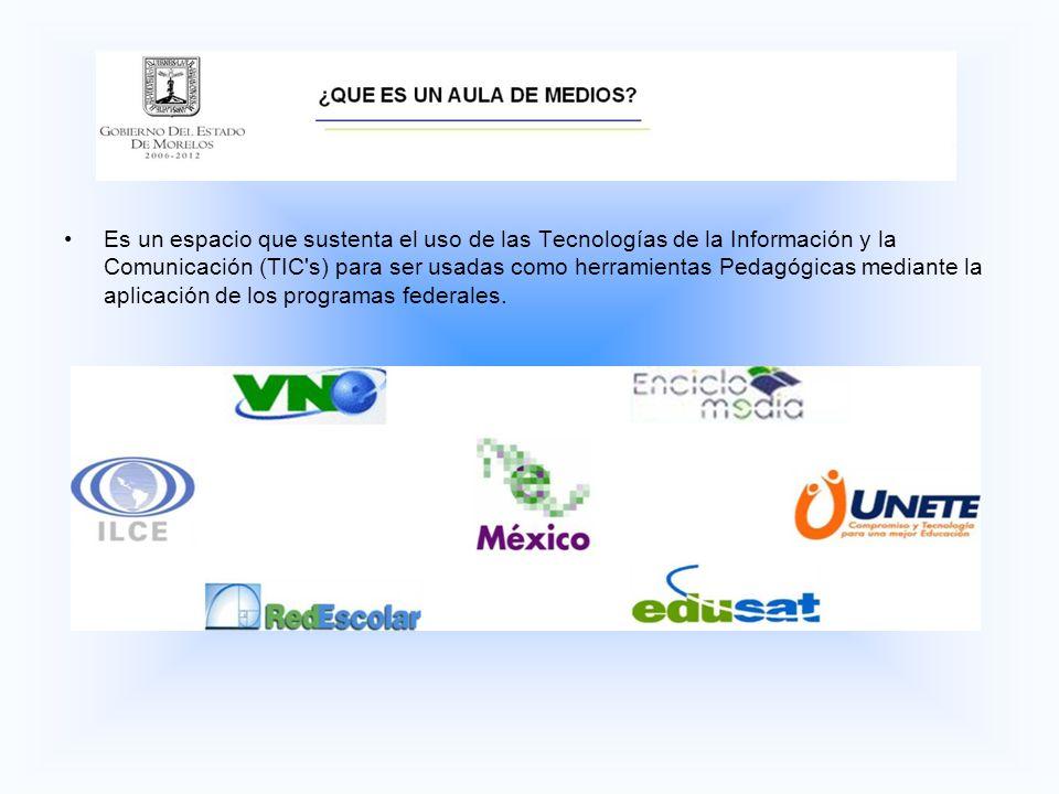 Es un espacio que sustenta el uso de las Tecnologías de la Información y la Comunicación (TIC s) para ser usadas como herramientas Pedagógicas mediante la aplicación de los programas federales.