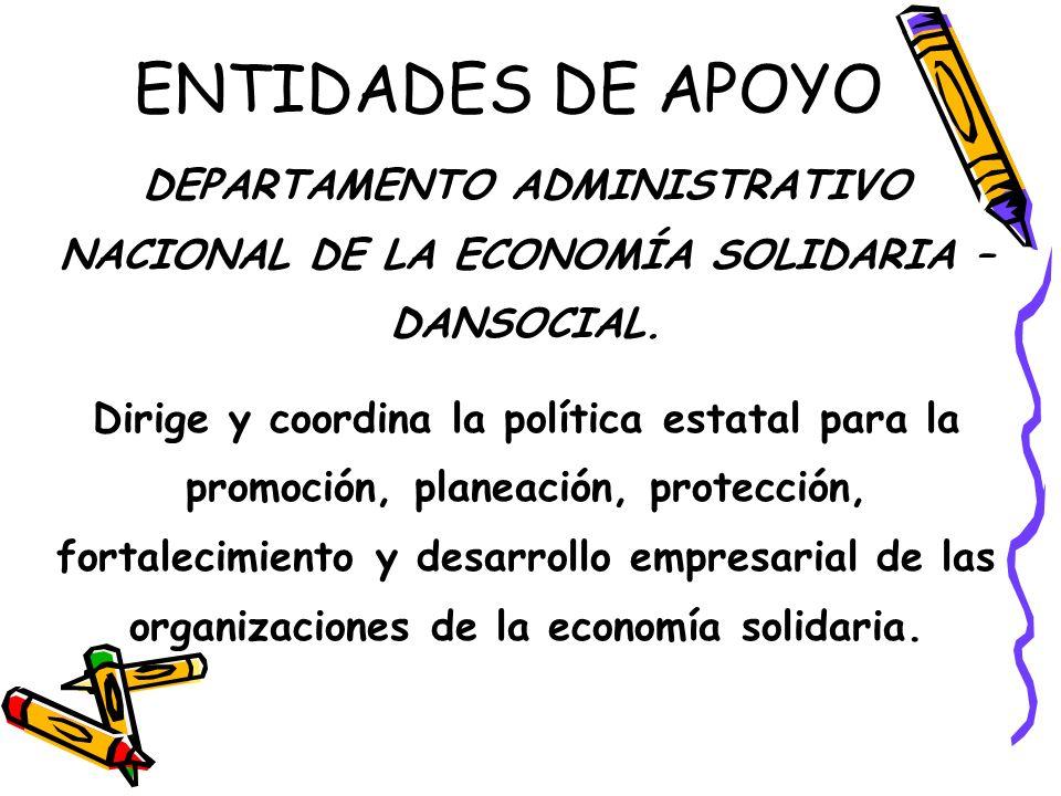 ENTIDADES DE APOYO FONDO DE FOMENTO DE LA ECONOMÍA SOLIDARIA – FONES. « « Otorga créditos para los proyectos de desarrollo de las entidades de Economí