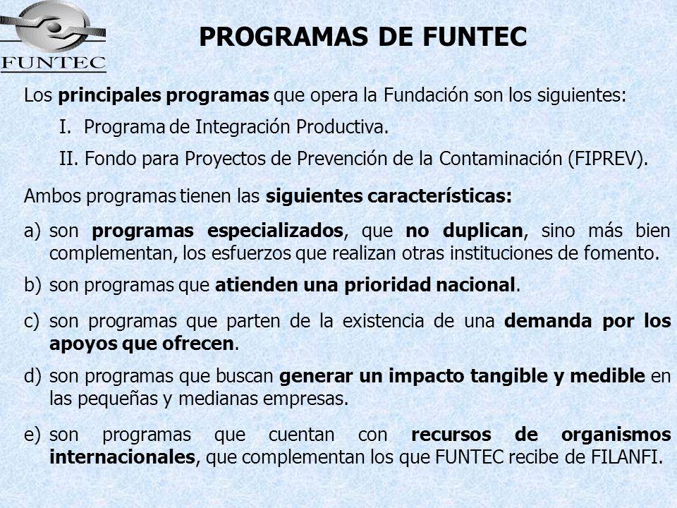 Los principales programas que opera la Fundación son los siguientes: I. Programa de Integración Productiva. II. Fondo para Proyectos de Prevención de