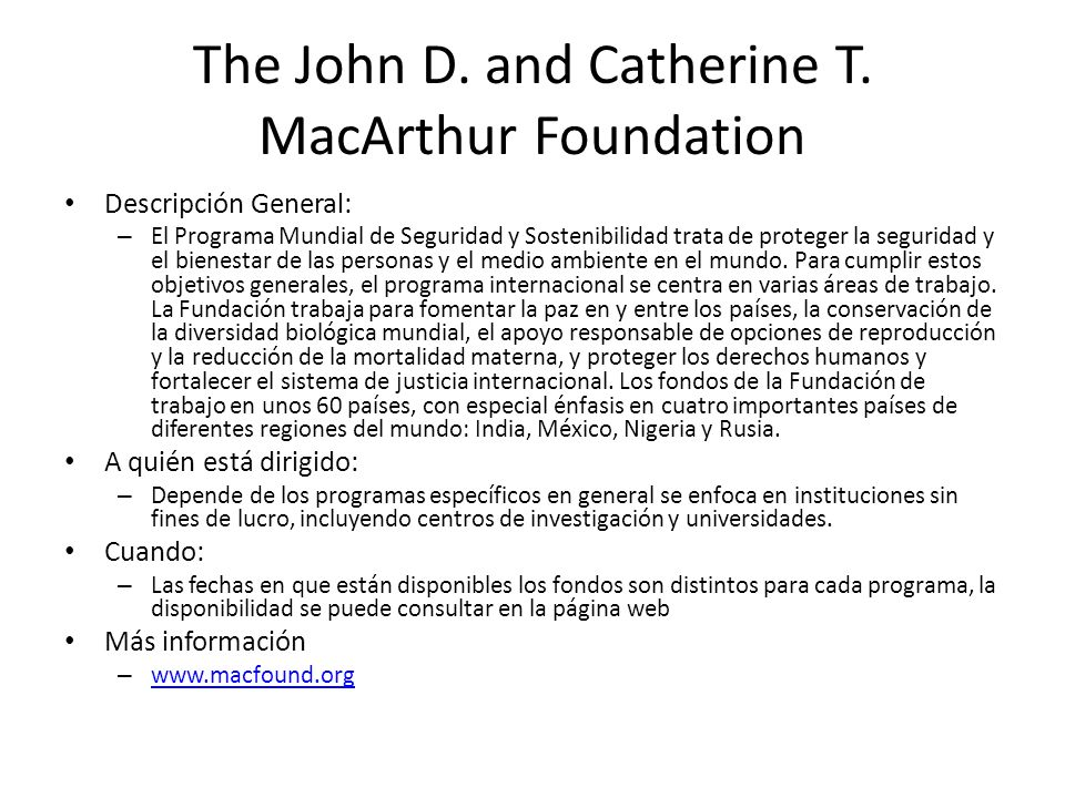 The John D.and Catherine T.