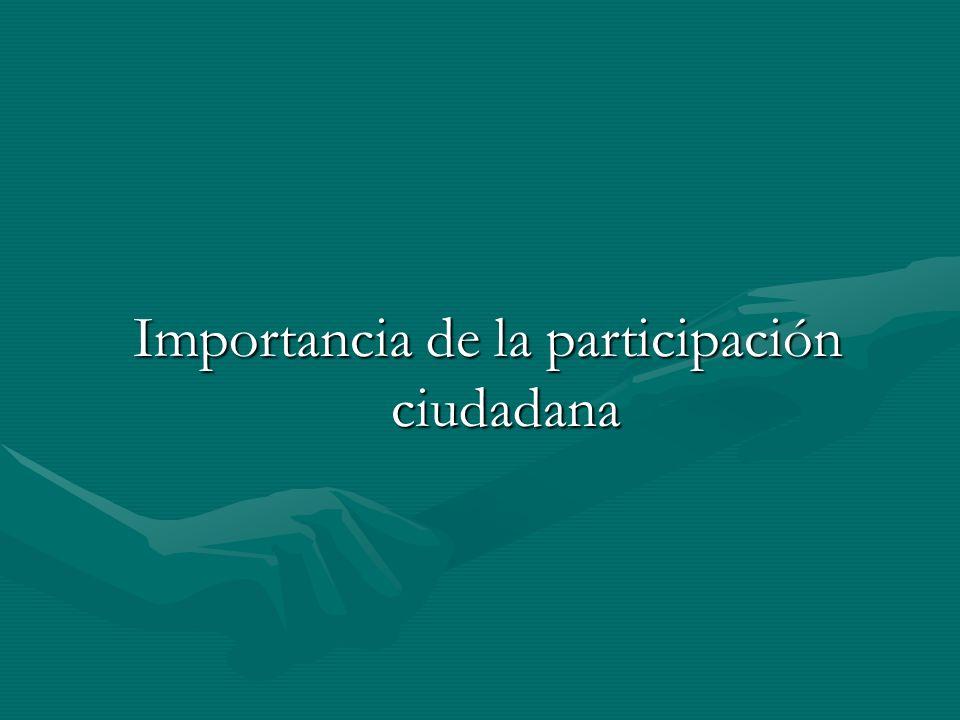 Importancia de la participación ciudadana
