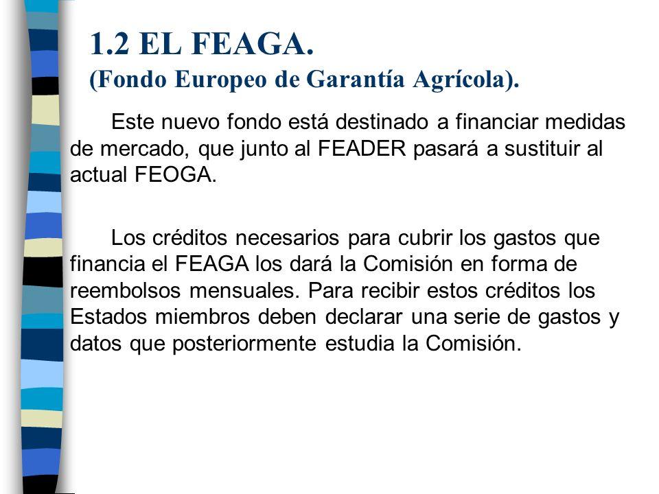 1.2 EL FEAGA. (Fondo Europeo de Garantía Agrícola).