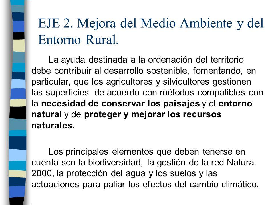 EJE 2. Mejora del Medio Ambiente y del Entorno Rural.