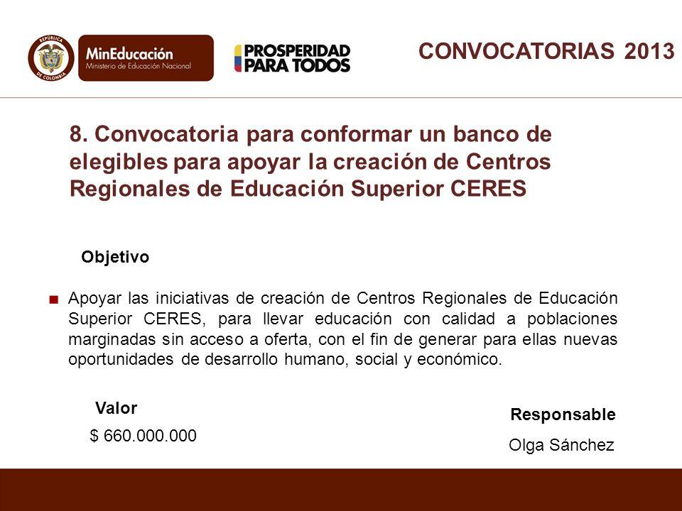 Objetivo Apoyar las iniciativas de creación de Centros Regionales de Educación Superior CERES, para llevar educación con calidad a poblaciones margina