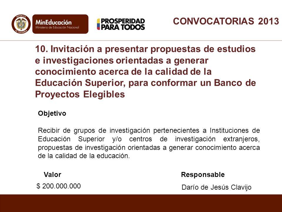 Objetivo Recibir de grupos de investigación pertenecientes a Instituciones de Educación Superior y/o centros de investigación extranjeros, propuestas