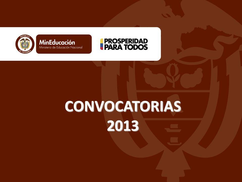 CONVOCATORIAS 2013