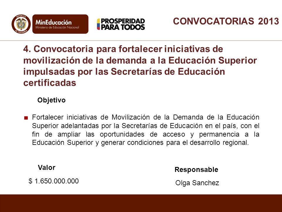 Objetivo Fortalecer iniciativas de Movilización de la Demanda de la Educación Superior adelantadas por la Secretarías de Educación en el país, con el