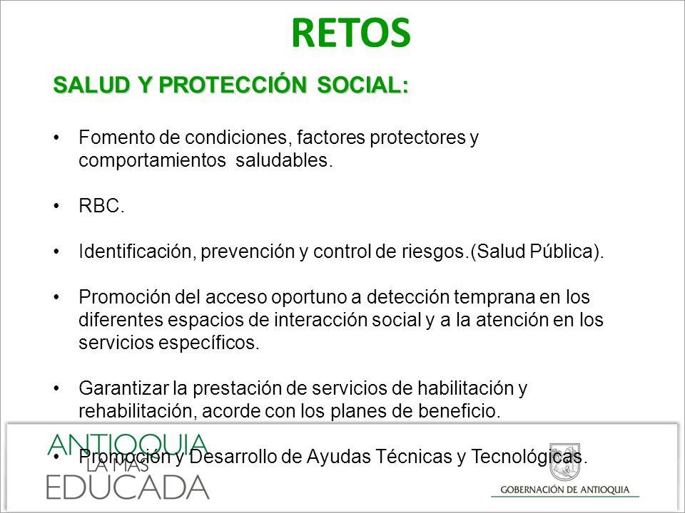 RETOS SALUD Y PROTECCIÓN SOCIAL: Fomento de condiciones, factores protectores y comportamientos saludables.