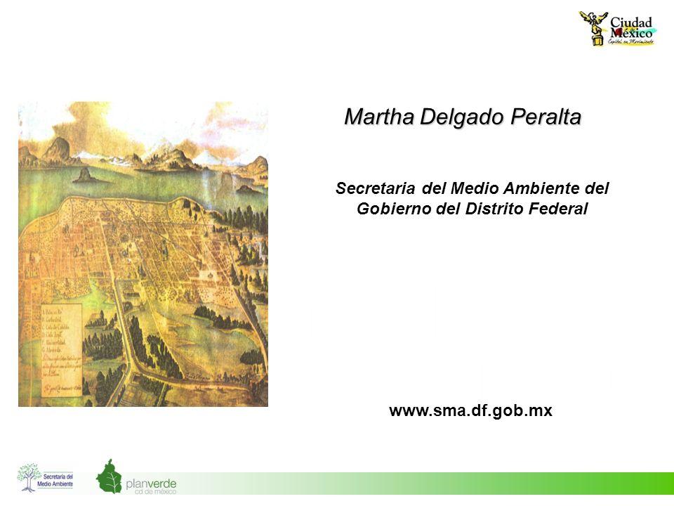 Martha Delgado Peralta Secretaria del Medio Ambiente del Gobierno del Distrito Federal www.sma.df.gob.mx
