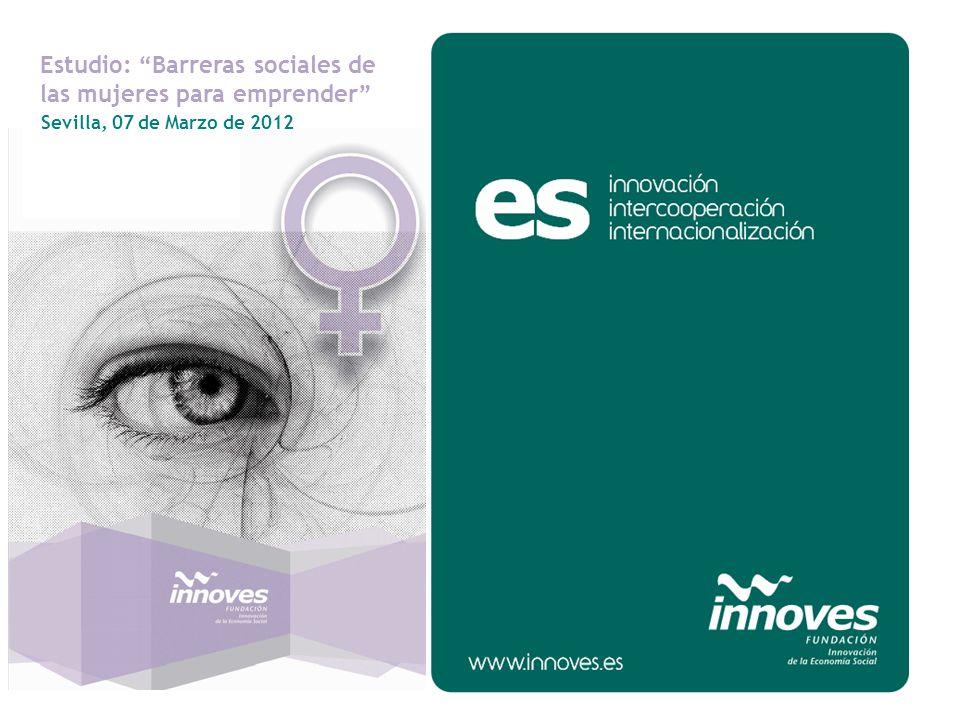 Sevilla, 07 de Marzo de 2012 Estudio: Barreras sociales de las mujeres para emprender
