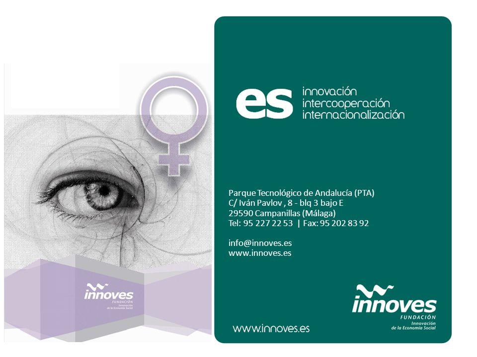 Parque Tecnológico de Andalucía (PTA) C/ Iván Pavlov, 8 - blq 3 bajo E 29590 Campanillas (Málaga) Tel: 95 227 22 53 | Fax: 95 202 83 92 info@innoves.e