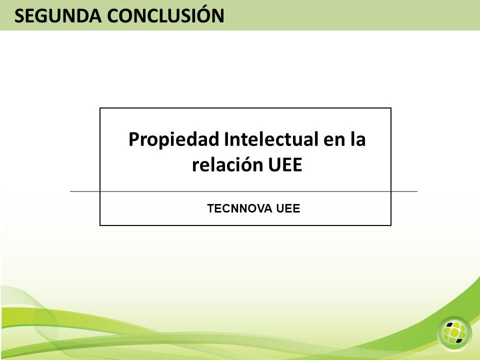 Propiedad Intelectual en la relación UEE TECNNOVA UEE SEGUNDA CONCLUSIÓN