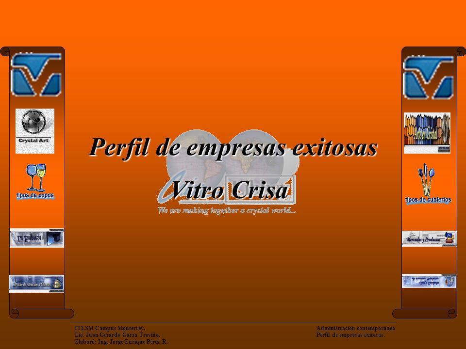 ITESM Campus Monterrey. Administración contemporánea Lic. Juan Gerardo Garza Treviño. Perfil de empresas exitosas. Elaboró: Ing. Jorge Enrique Pérez R