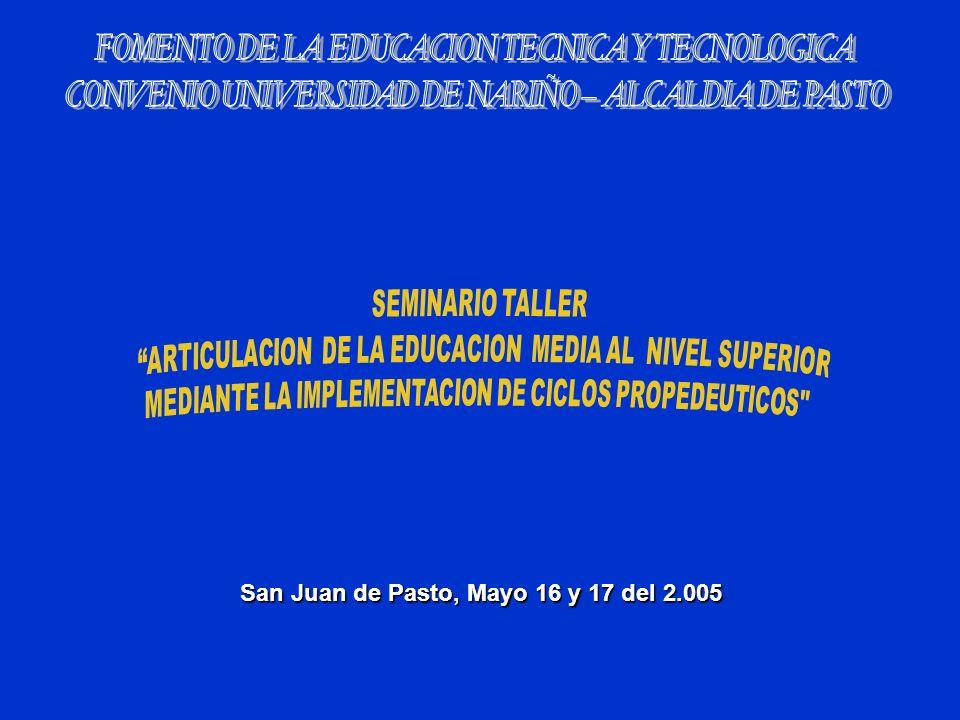 San Juan de Pasto, Mayo 16 y 17 del 2.005