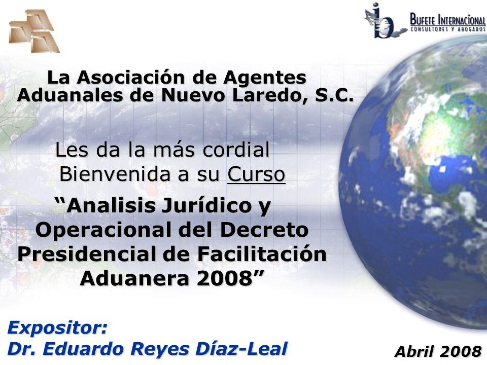 Decreto de Facilitación Aduanera Artículo 2° II.