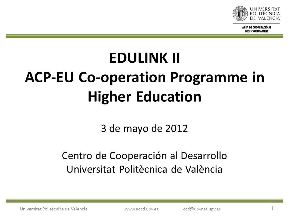 2 Universitat Politècnica de València Instrucciones convocatorias de la UE tramitadas por el CCD Paso 1: contacto con el CCD para establecer un plan coordinado de trabajo.
