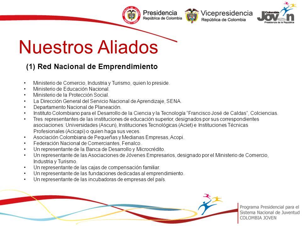 Nuestros Aliados (1) Red Nacional de Emprendimiento Ministerio de Comercio, Industria y Turismo, quien lo preside.
