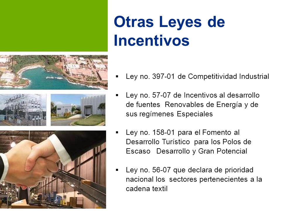 Ley no.397-01 de Competitividad Industrial Ley no.