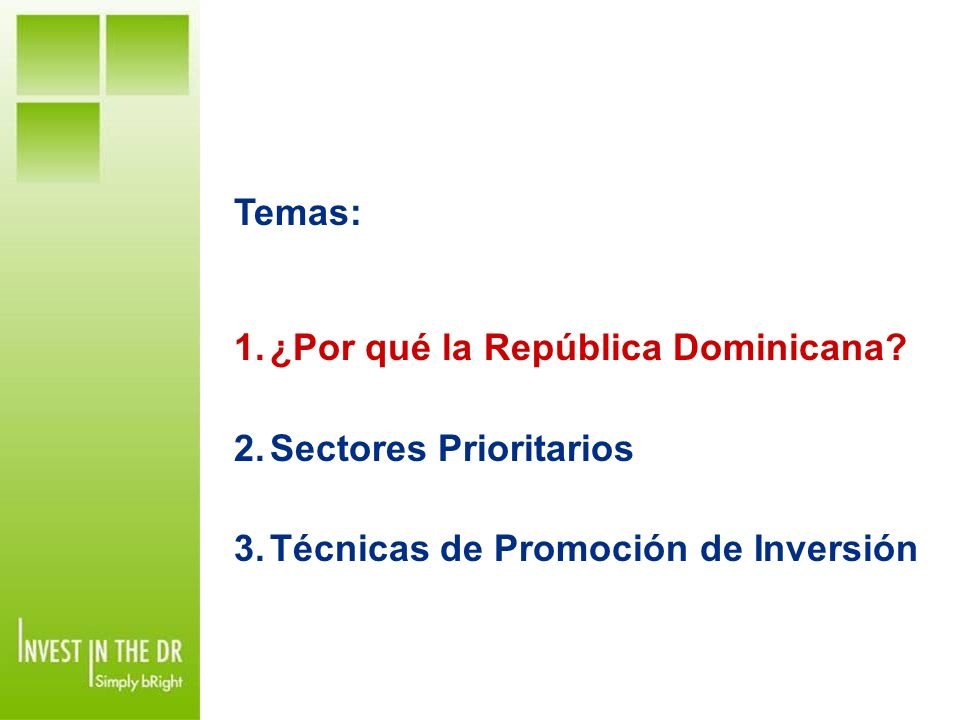 Población 9.6M Total Fuerza Laboral 4.1M PIB (2009) S$46.8 mil millones PIB Per Capita US$4,849.70 Un País Pequeño que piensa en GRANDE.