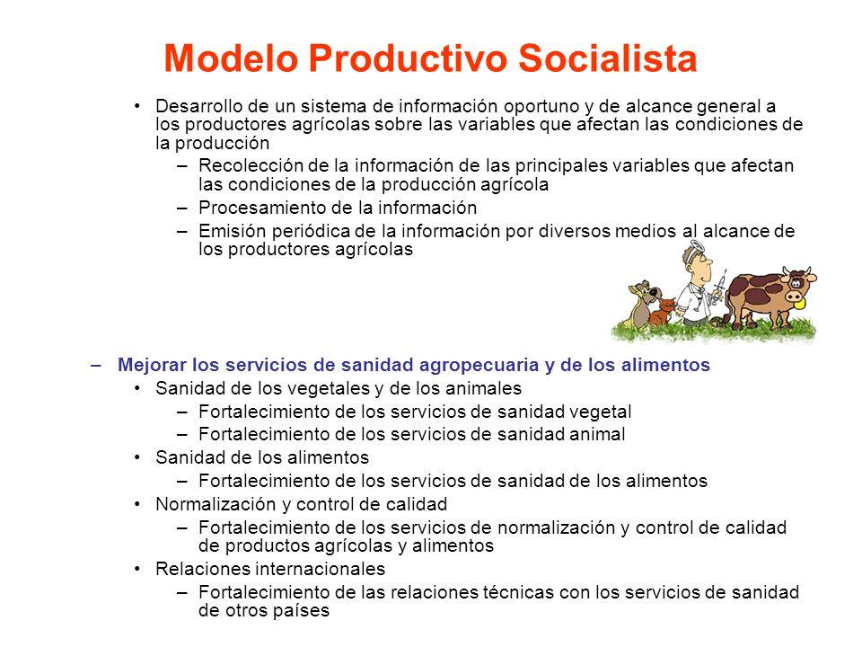 Desarrollo de un sistema de información oportuno y de alcance general a los productores agrícolas sobre las variables que afectan las condiciones de l