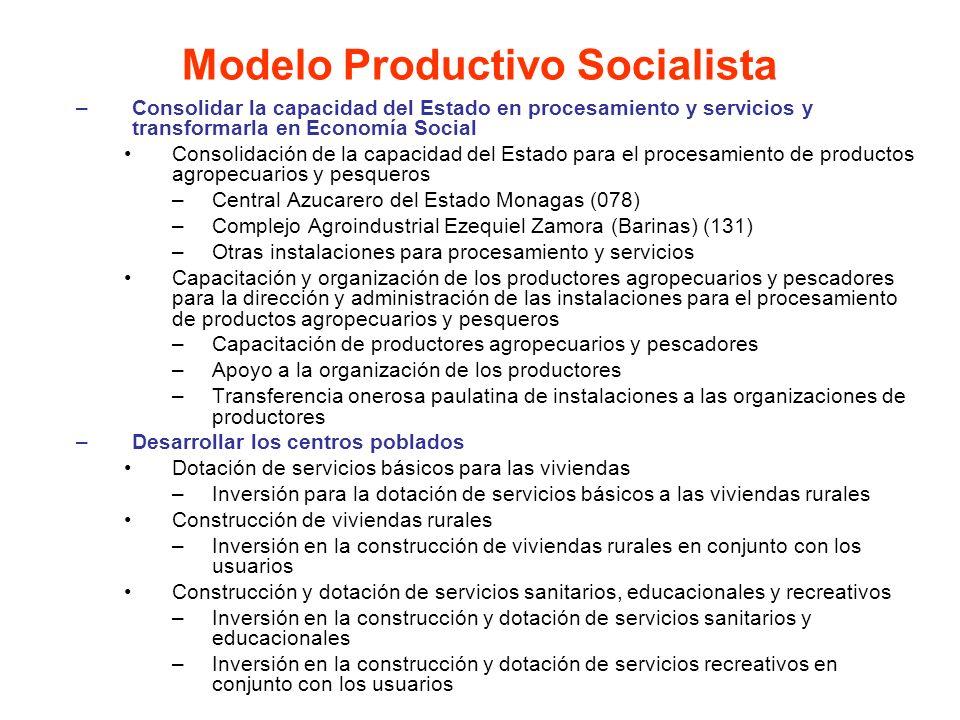 –Consolidar la capacidad del Estado en procesamiento y servicios y transformarla en Economía Social Consolidación de la capacidad del Estado para el p