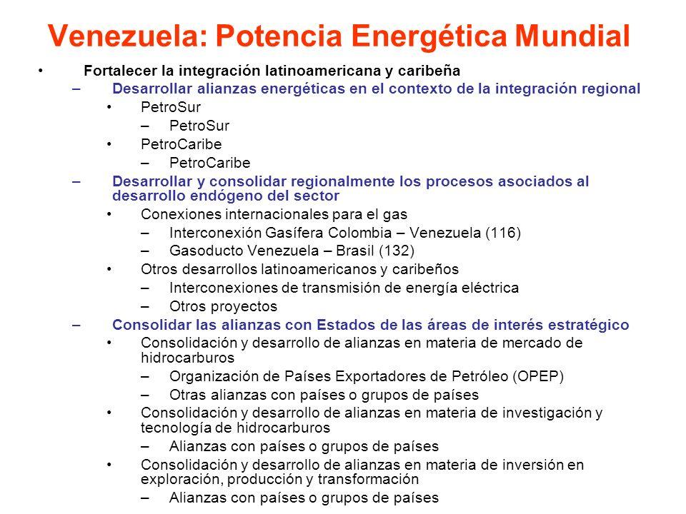 Fortalecer la integración latinoamericana y caribeña –Desarrollar alianzas energéticas en el contexto de la integración regional PetroSur –PetroSur Pe