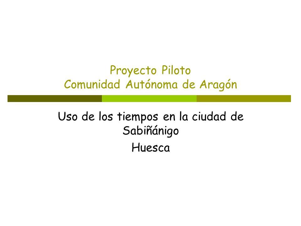 Proyecto Piloto Comunidad Autónoma de Aragón Uso de los tiempos en la ciudad de Sabiñánigo Huesca