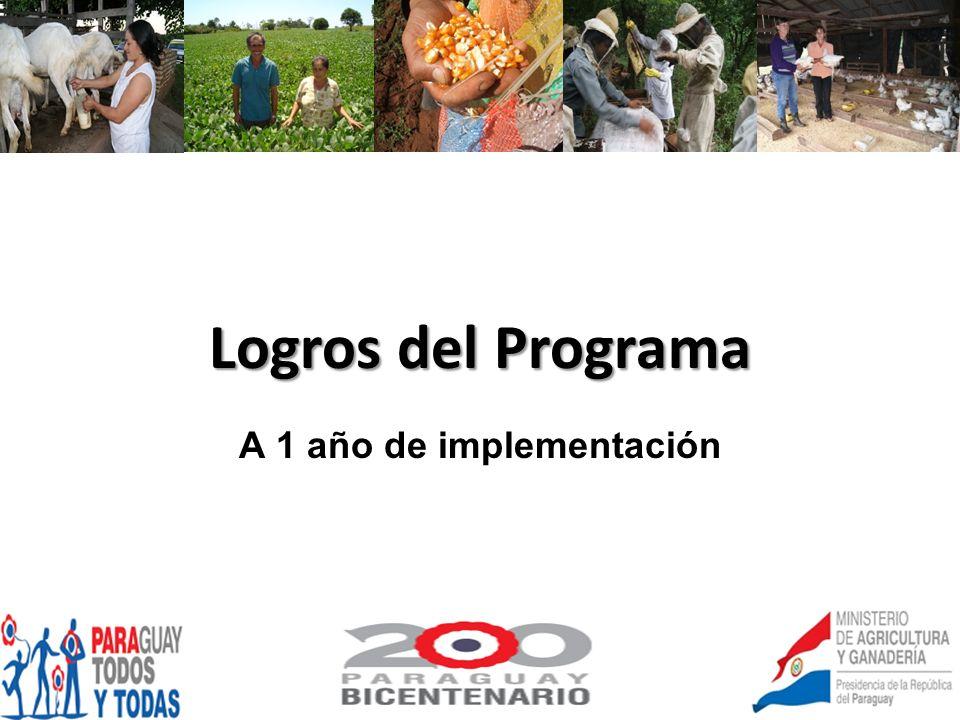 Logros del Programa A 1 año de implementación