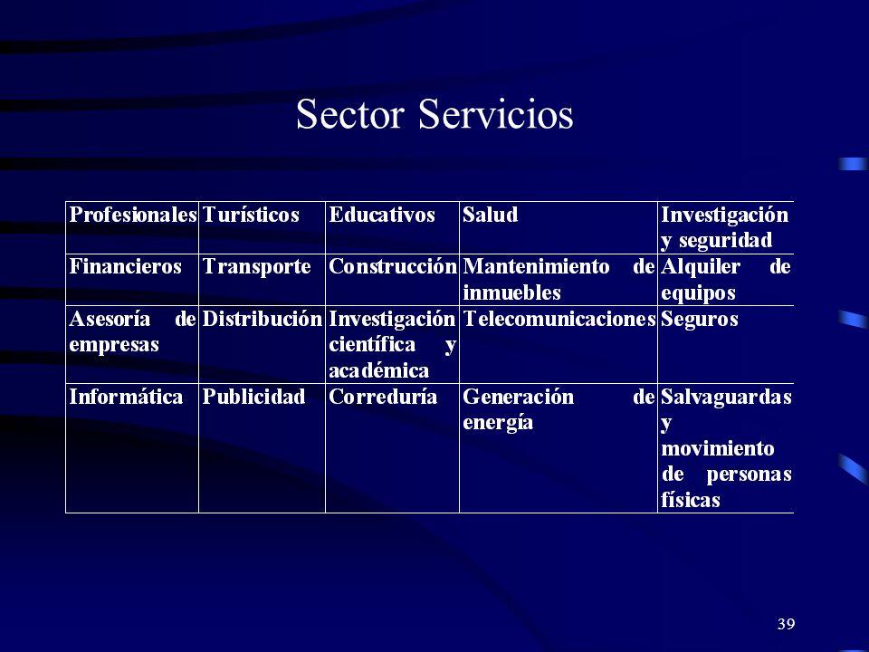 39 Sector Servicios