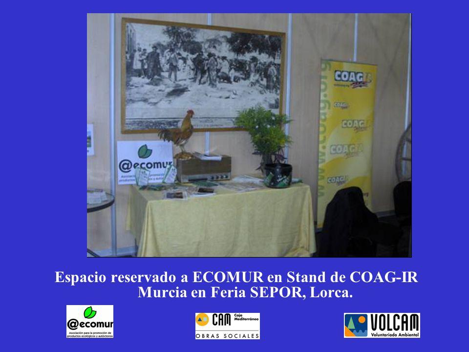 Espacio reservado a ECOMUR en Stand de COAG-IR Murcia en Feria SEPOR, Lorca.