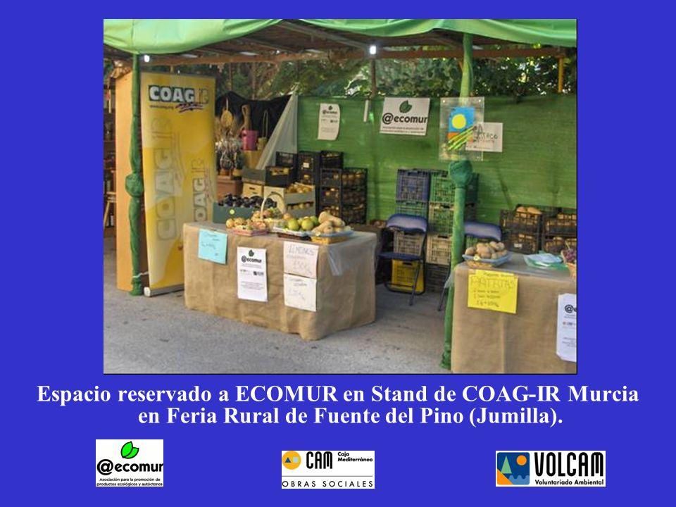 Espacio reservado a ECOMUR en Stand de COAG-IR Murcia en Feria Rural de Fuente del Pino (Jumilla).