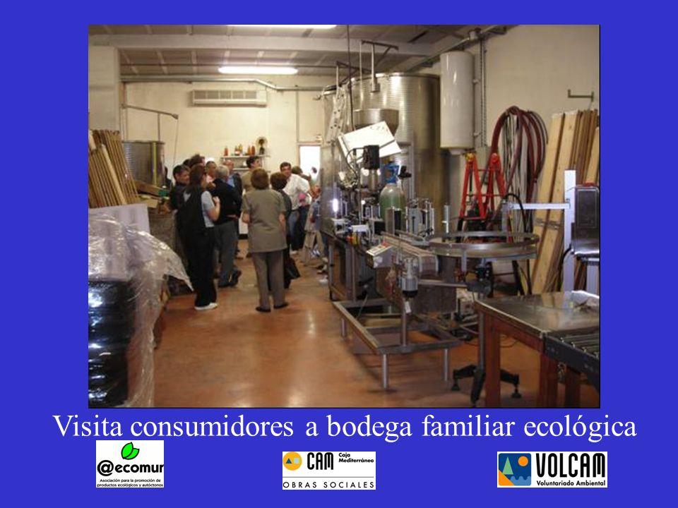 Visita consumidores a bodega familiar ecológica