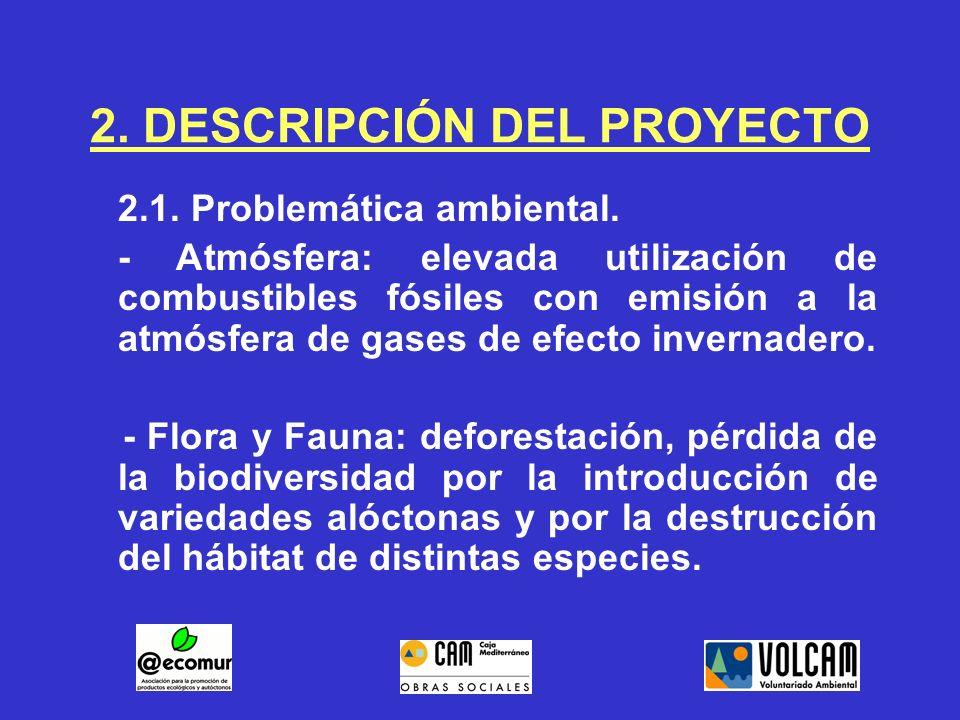 2.DESCRIPCIÓN DEL PROYECTO 2.1. Problemática ambiental.