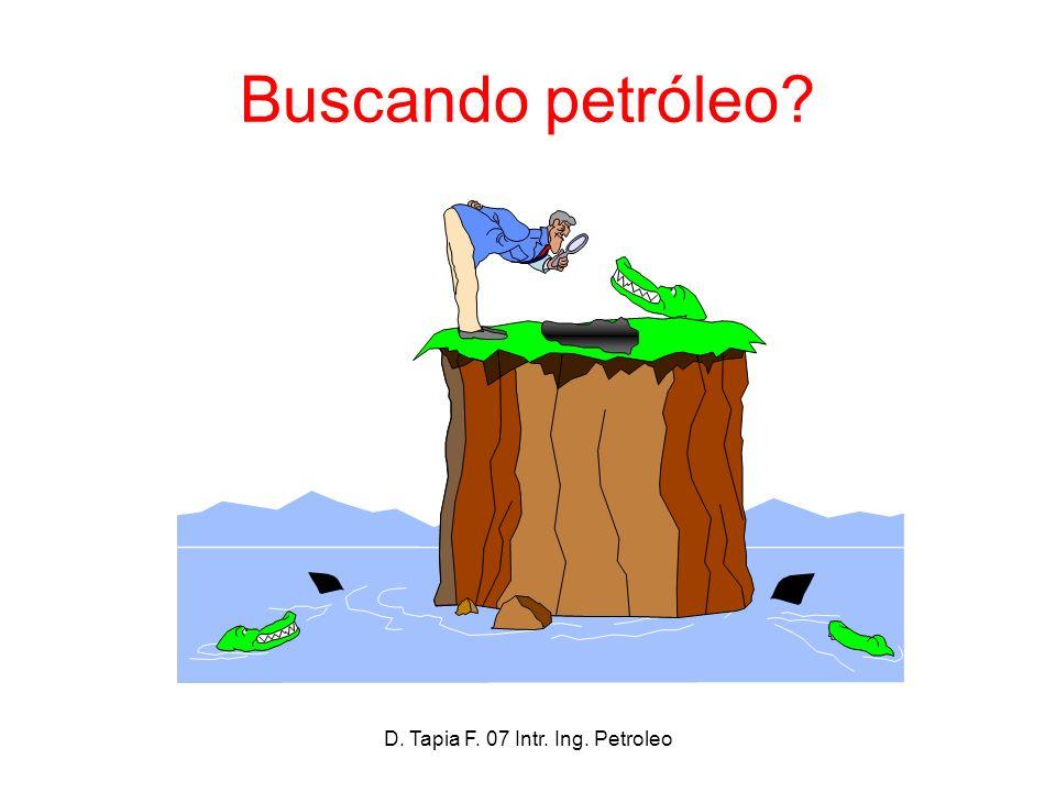 D. Tapia F. 07 Intr. Ing. Petroleo Buscando petróleo?
