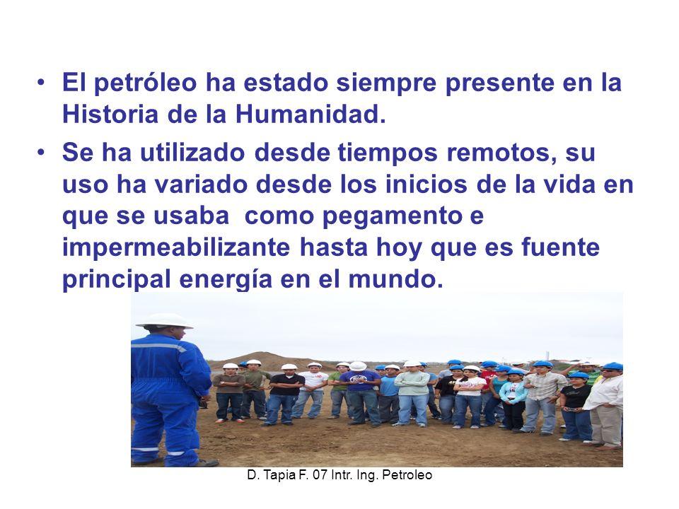 El petróleo ha estado siempre presente en la Historia de la Humanidad.