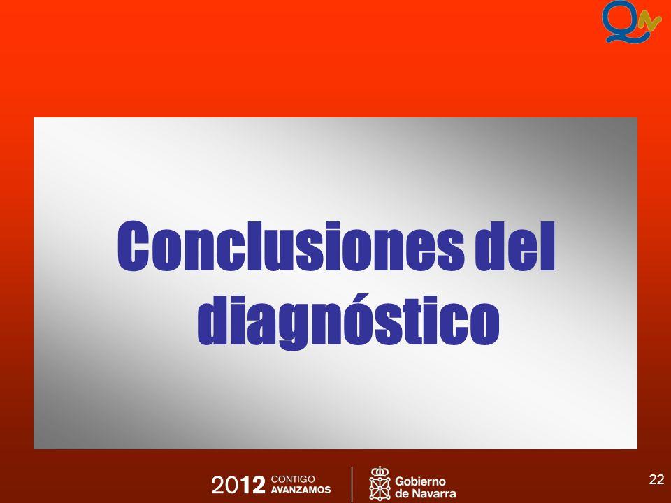 22 Conclusiones del diagnóstico