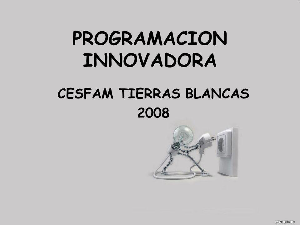 PROGRAMACION INNOVADORA CESFAM TIERRAS BLANCAS 2008
