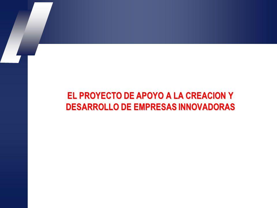 EL PROYECTO DE APOYO A LA CREACION Y DESARROLLO DE EMPRESAS INNOVADORAS