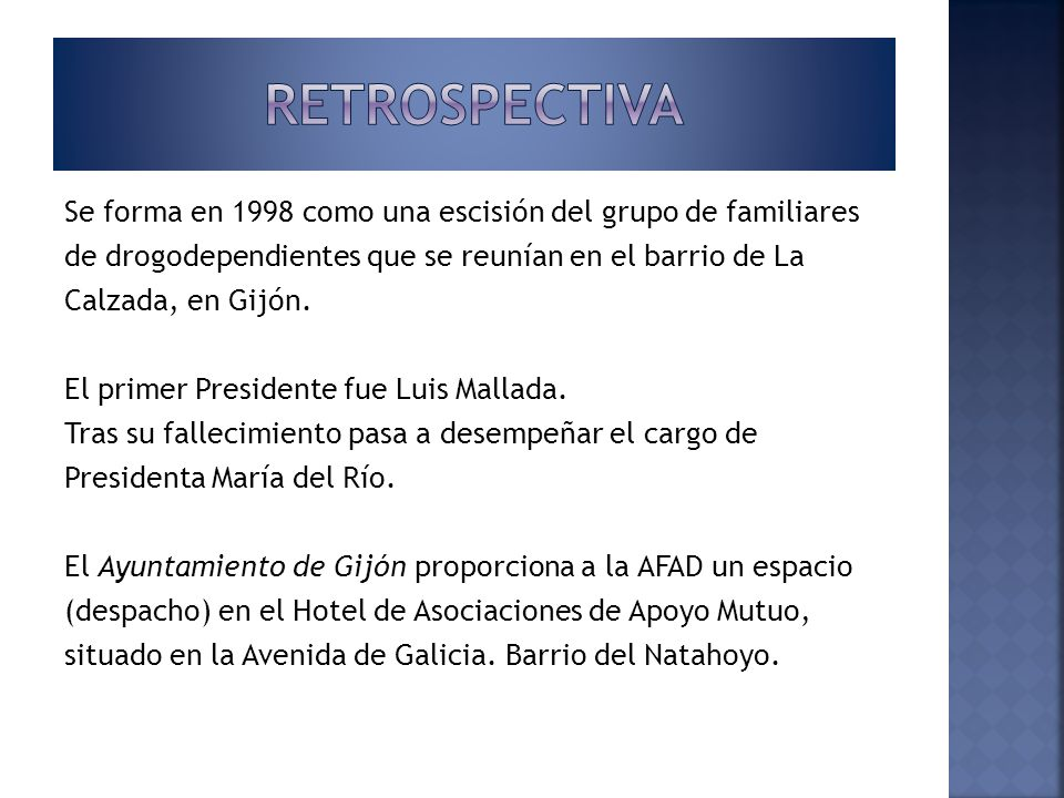 Comienzan a utilizarse las instalaciones del Hotel de Asociaciones para proporcionar tratamiento psicológico a familiares de personas drogodependientes.