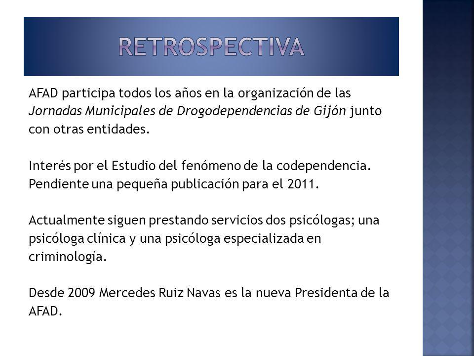 AFAD participa todos los años en la organización de las Jornadas Municipales de Drogodependencias de Gijón junto con otras entidades. Interés por el E