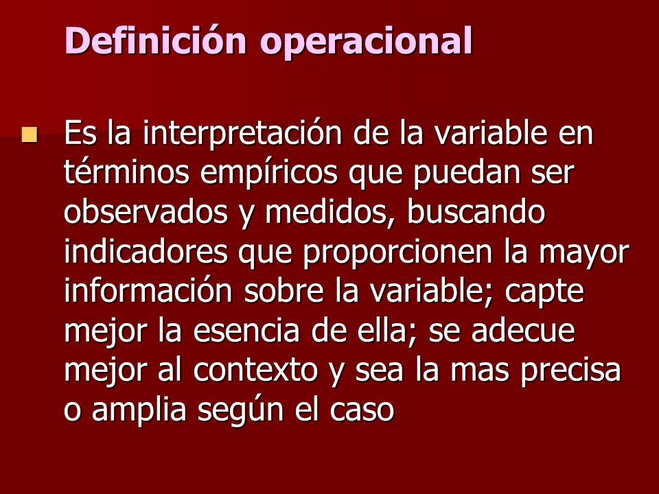 Definición conceptual o constitutiva Son definiciones de diccionario o libros especializados que abarcan las cualidades necesarias para describirla se