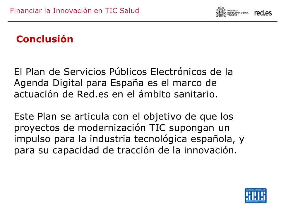 El Plan de Servicios Públicos Electrónicos de la Agenda Digital para España es el marco de actuación de Red.es en el ámbito sanitario. Este Plan se ar