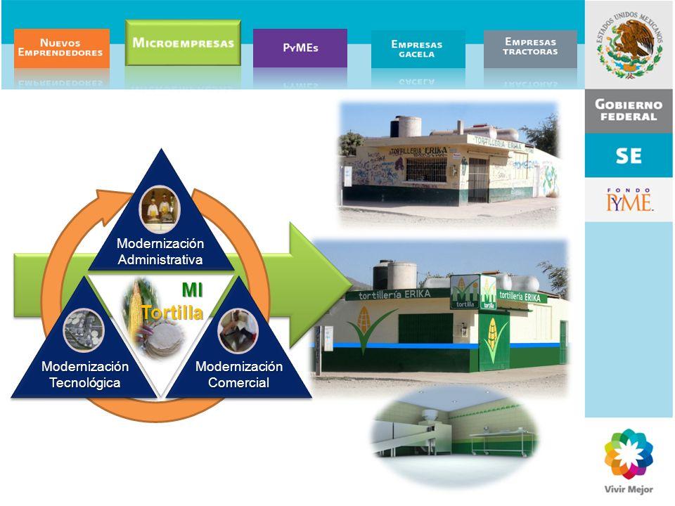 Modernización Administrativa Modernización Tecnológica Modernización Comercial MITortilla