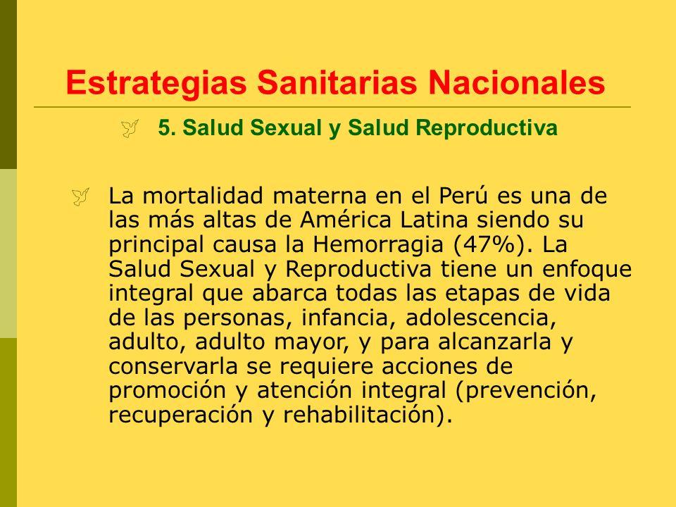 La mortalidad materna en el Perú es una de las más altas de América Latina siendo su principal causa la Hemorragia (47%). La Salud Sexual y Reproducti