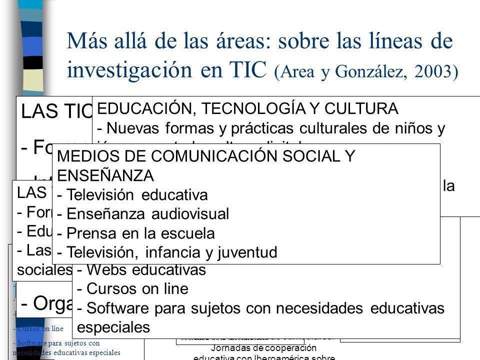 Las TIC en las áreas curriculares. Jornadas de cooperación educativa con Iberoamérica sobre TIC 2005 n Concepción más amplia. n Audición interactiva.