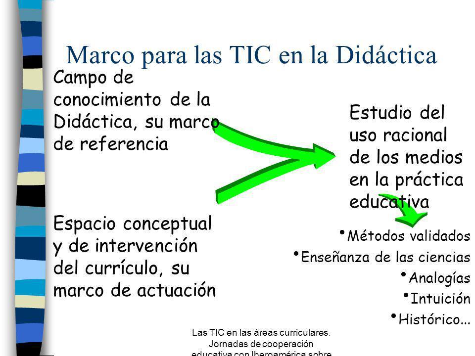 Las TIC en las áreas curriculares. Jornadas de cooperación educativa con Iberoamérica sobre TIC 2005 Primera parte. Por qué hablamos de integración n