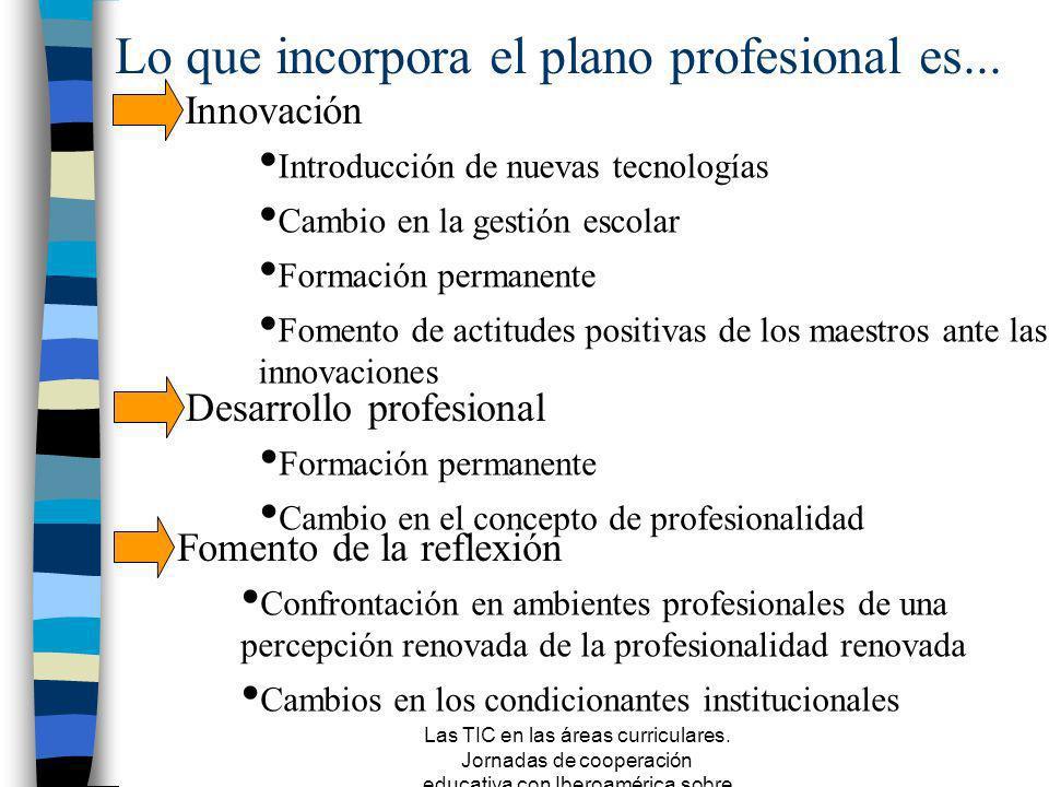 Las TIC en las áreas curriculares. Jornadas de cooperación educativa con Iberoamérica sobre TIC 2005 Beneficiarios de las propuestas Maestros especial