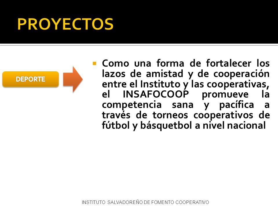 Como una forma de fortalecer los lazos de amistad y de cooperación entre el Instituto y las cooperativas, el INSAFOCOOP promueve la competencia sana y